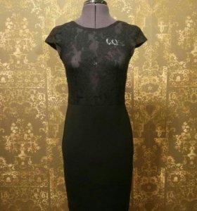 Платье новое трикотаж гипюр