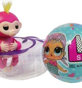 🙈Купите Fingerlings со скидкой+подарок кукла ЛОЛ!