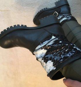 Итальянские ботинки 37 р-р