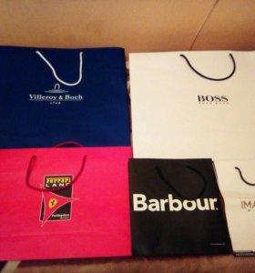 Фирменные пакеты Boss,villeroy,ferreri,barbour