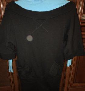 Платье шерстяное чёрное