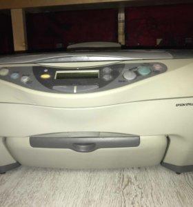Цветной струйный принтер и сканер  epson cx3200