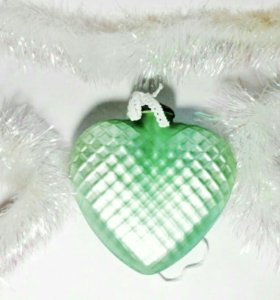 "Ёлочная игрушка  ""сердце "" от LisbethDahl"