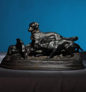 Чернильница Касли «Собаки на стойке» 1959г.
