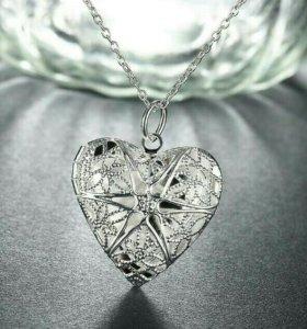 Медальон Кулон в виде сердца