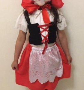 Костюм красной шапочки, 5-7 лет .