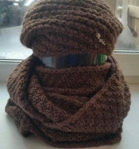 Комплект зимний комплект шапка  и снуд