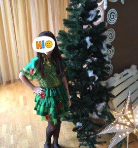 Новогоднее платье «ёлочка»