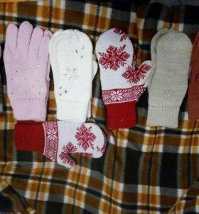 Новые варежки, перчатки