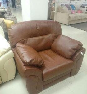 Кресло из натуральной кожи 14000