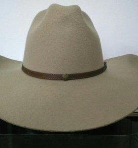 Натуральная фетровая, ковбойская шляпа: США новая.