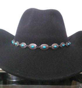 Фетровая ковбойская шляпа: в отличном состоянии.