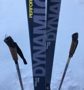 Комплект Dynamic лыжи и палки