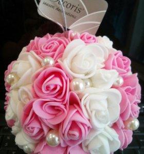 Декоративный интерьерный   шар ( свадебный)