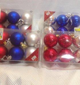 Игрушки шары новогодние