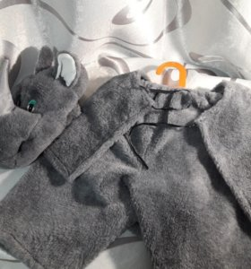 Новогодний костюм носорога
