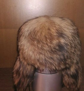 Шапка енотовая зимушка