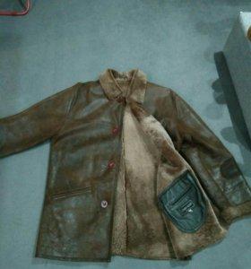 Зимняя куртка,мужская,кожаная