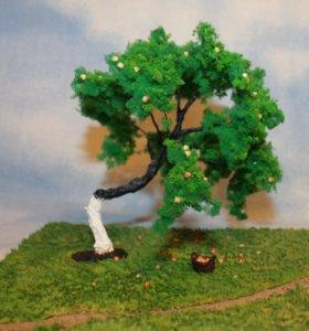 Диорама, дерево для жд макета