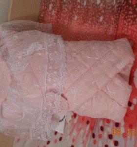 Нарядное ажурное одеяло на выписку для девочки