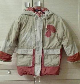 Куртка зимняя на девочку 5-6 лет