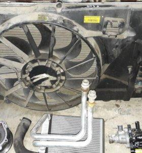 Chevrolet Aveo T300 диффузор с вентилятором