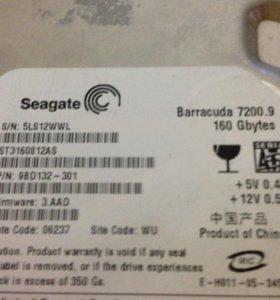 Жесткий диск Seagate Barracuda 7200.9 160GB