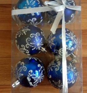 """Новогодние шары """"Снежинки с узором"""""""