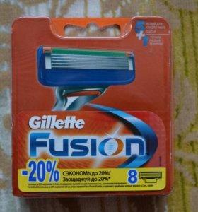 Оригинальные лезвия Gillette (Жиллет) Fusion 8