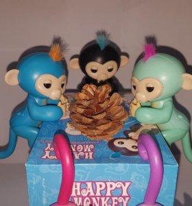 Интерактивная игривая обезьянка Happy monkey