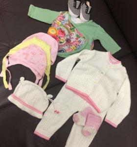Вещи новорожденной пакетом/костюм в подарок, обмен