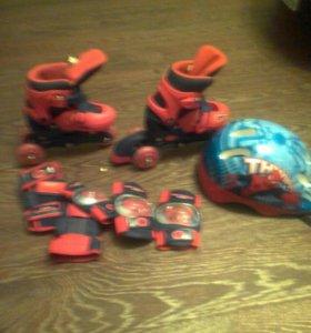 Детские ролики с защитой