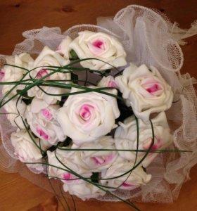 Свадебный букет невесты из искусственных цветов