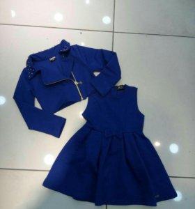 Костюм платье+пиджак