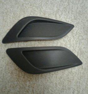 Две заглушки ПТФ форд фокус 2 рестайлинг
