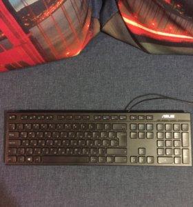 Клавиатура Asus+мышка+микрофон