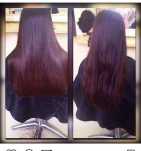 Кератиновое востоновления волос