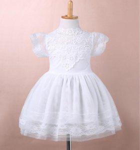 новое нарядное платье 1-2 года