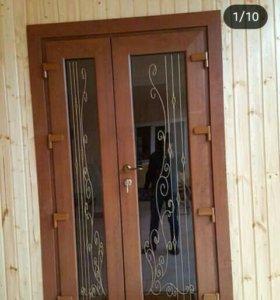 Алюминиевые, пластиковые, стеклянные двери.