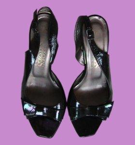 босоножки женские черные кожаные бу английские