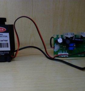 Лазерный модуль TTL 1.6Вт/1600Мвт чпу  гравировка