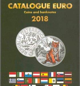 Каталог банкнот и монет евро 1999-2018 гг. English