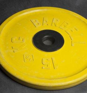 Блин Barbell евроклассик 15кг и 20кг