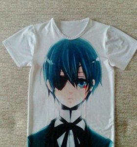 Тёмный дворецкий футболка аниме