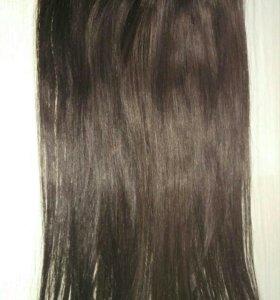 Волосы натуральные на заколках (трессы)