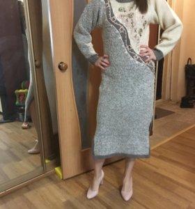 Вязаное платье 46-48