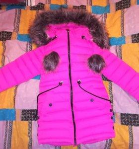 Тёплая куртка рост 122-128