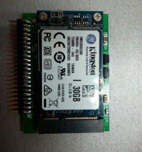 msata ssd 30gb+адаптор msata tu ide 40 pin
