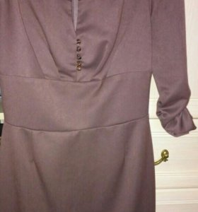 Платье. коричневое