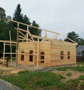 Строительство домов, бань, заборов.